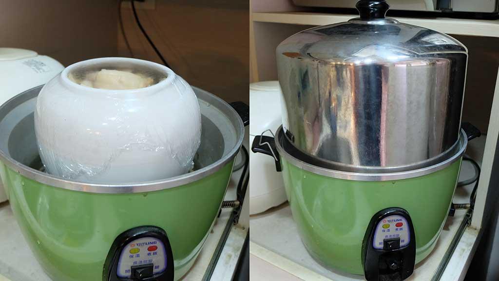 愛用電鍋蒸東西的人一定要去買個加高鍋蓋,可以把電鍋的能耐發揮到極致啊!